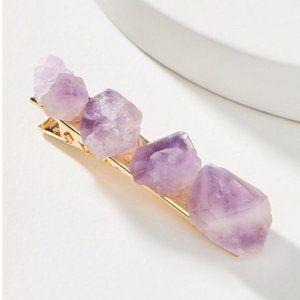 Anthropologie Gemstone Hair Clip in Purple